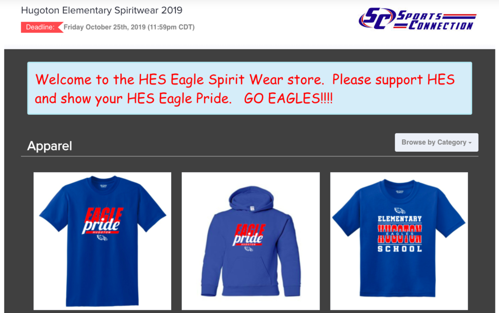 New Website Store- Order Your Eagle Apparel!