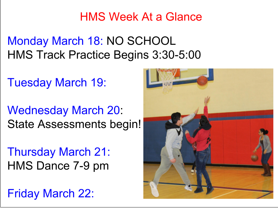 HMS Week At A Glance