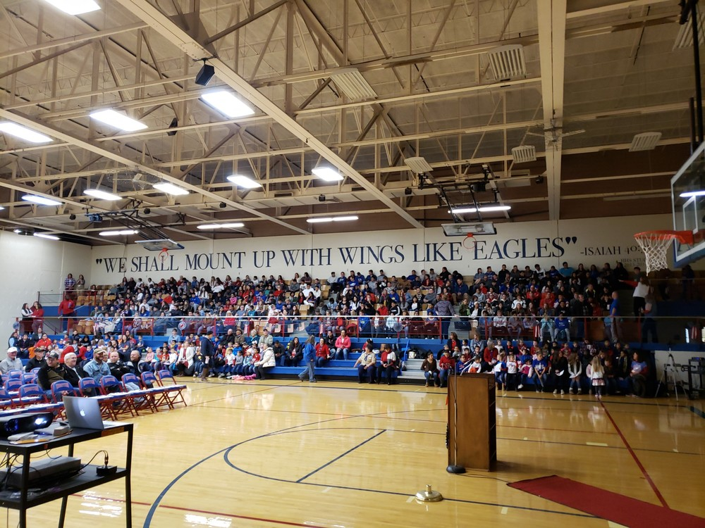Stand room only!  USD210 annual Veteran's Day Program 11/11/2019