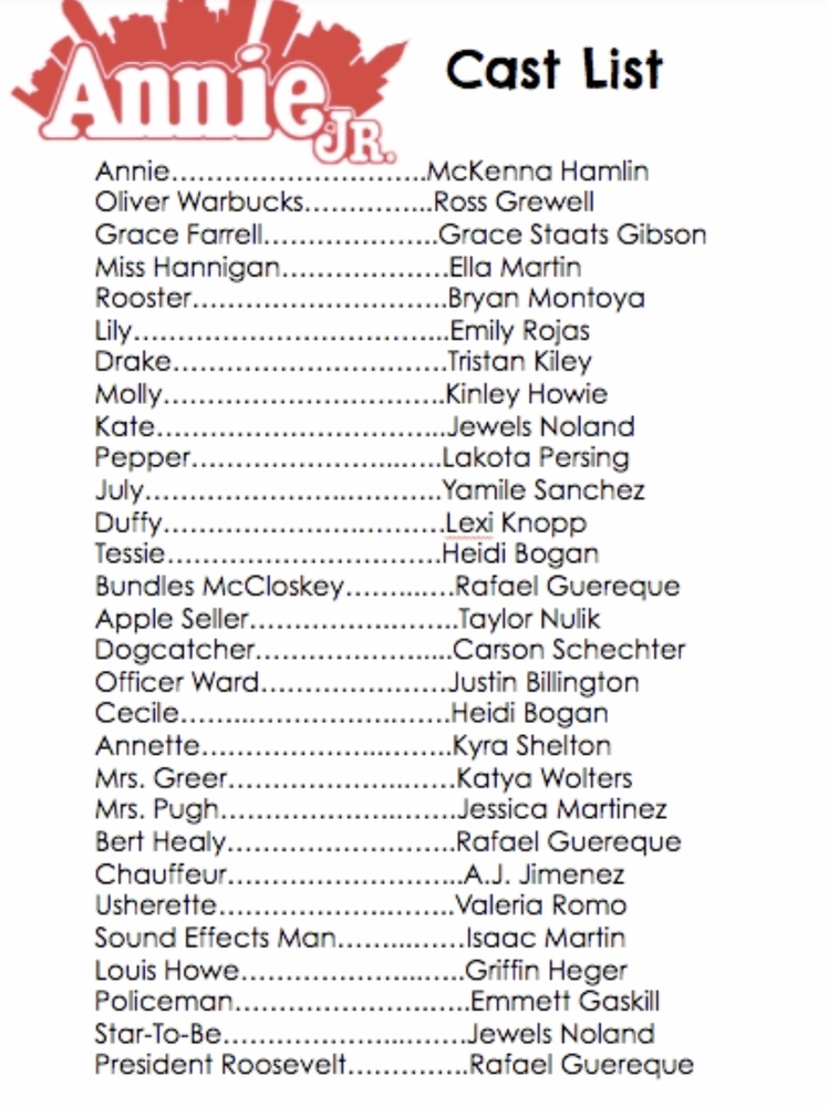 Check Out This Amazing Cast List!