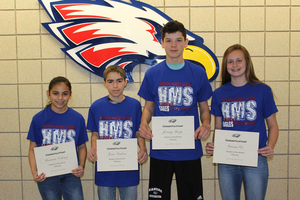 HMS February Students of the Month!