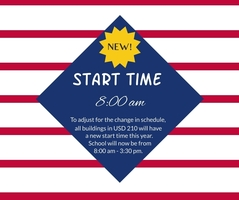USD 210 Has a New Start Time