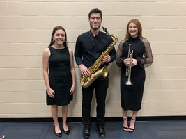 2019 SWKMEA district honor band members from HHS
