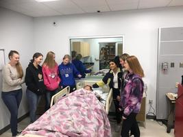 HHS future during students touring the new Allied Health Center at SCCC