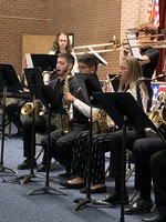 A. Dale, HHS senior, was chosen as 1st chair sax in the Southwest Kansas Music honor jazz band