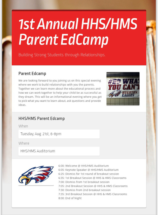 HHS/HMS Parent EdCamp