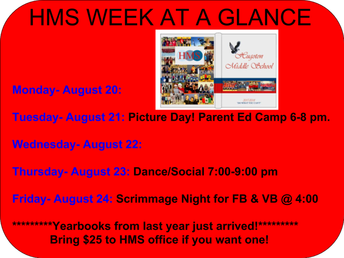 Week At A Glance HMS