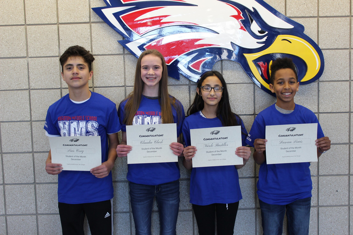 Dec. Students of the Month