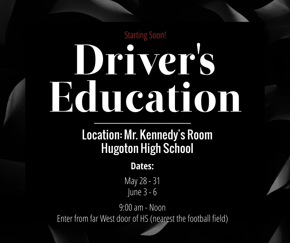 Driver's Education Notice