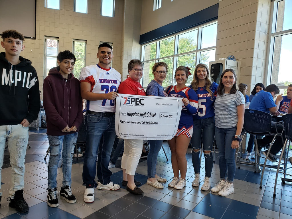 Pioneer Electric donation to HHS