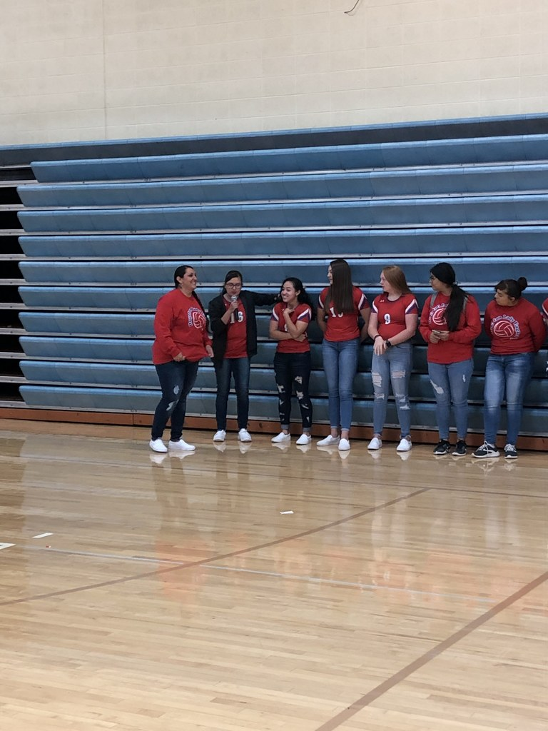 HS VB TeaM VISIT Fight Song Friday at HMS