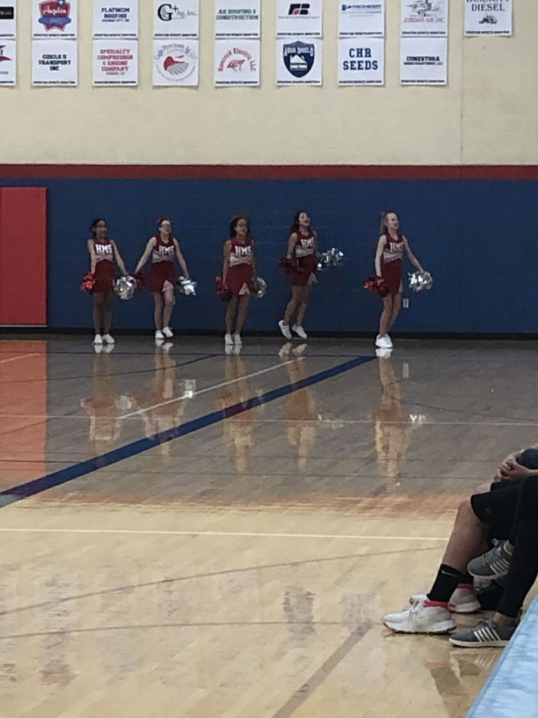 Cheering for the HMS 7th B Team BB Girls.