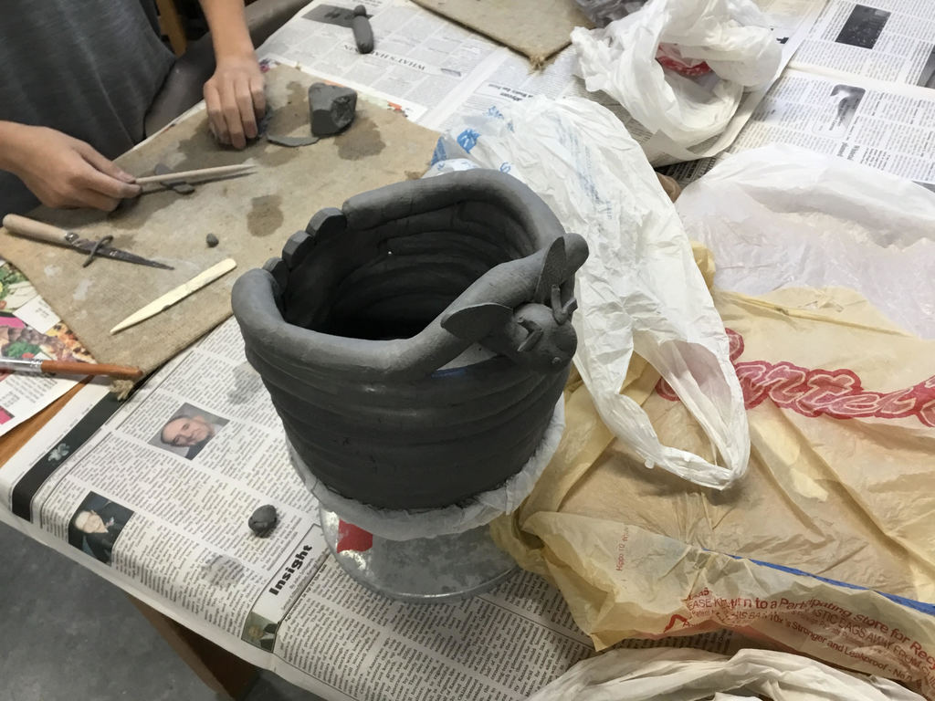 Ceramics in 1st hour art.