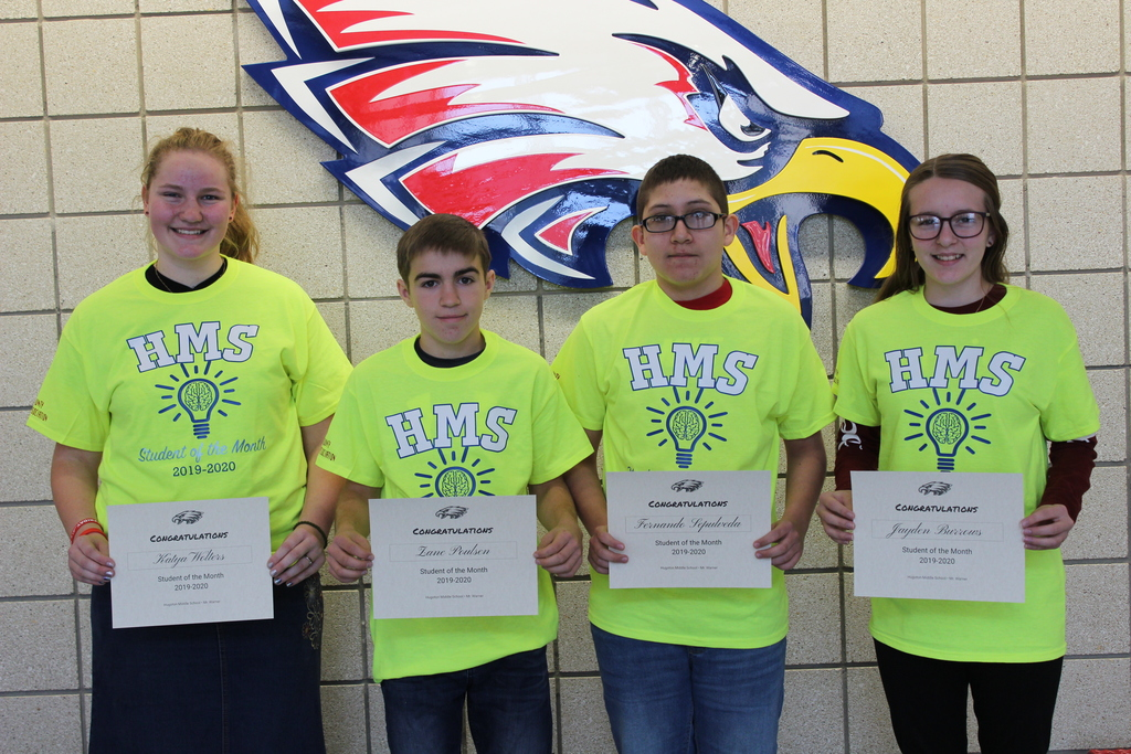 HMS October Students of the Month