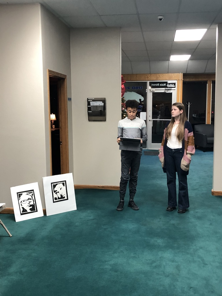 HMS students presenting at BOE Meeting 12/9/19