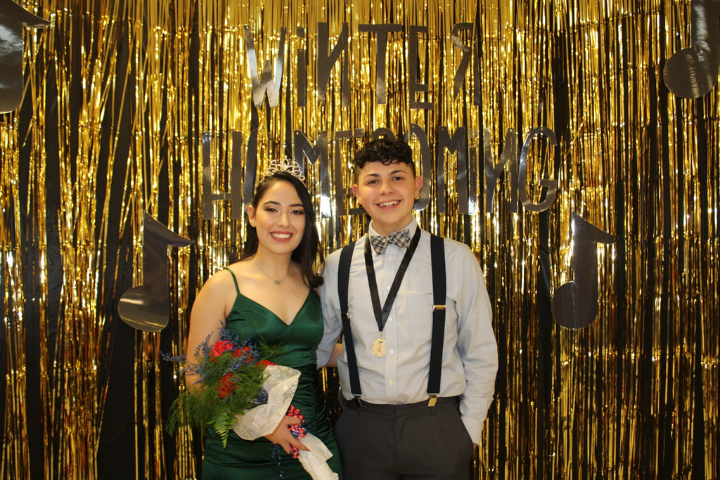 Homecoming Queen A. Bojorquez and King A. Gonzalez