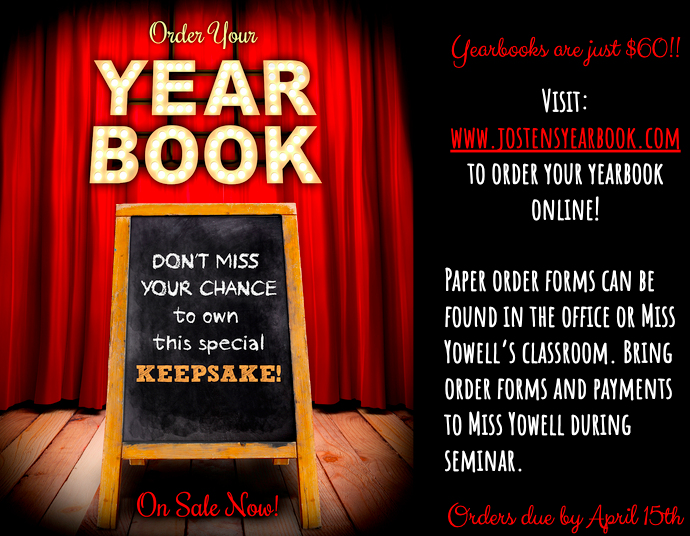 HHS 2020 Yearbooks are now on sale. Visit www.jostensyearbook.com to order yours now! Orders are due by April 15th and books will be delivered in late August.