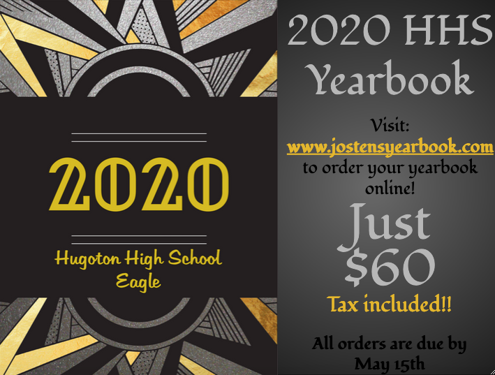 2020 Yearbook Cover advertisement